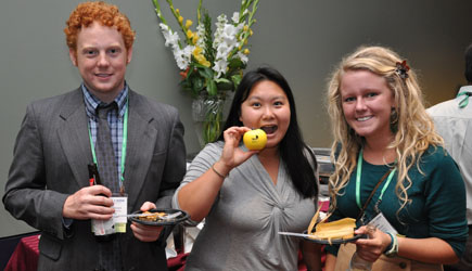Three 2011 Scholars with Apple